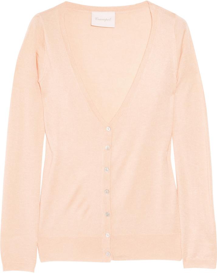 Crumpet Fine-knit silk and cashmere-blend cardigan
