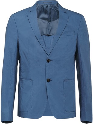 Prada technical cotton single-breasted jacket