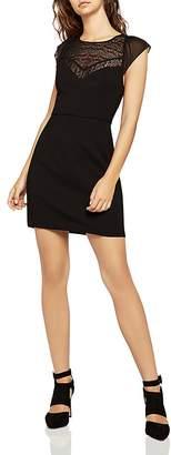 BCBGeneration Lace-Inset Sheath Dress