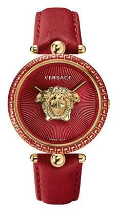 Versace 39mm Palazzo Empire Watch, Red/Gold