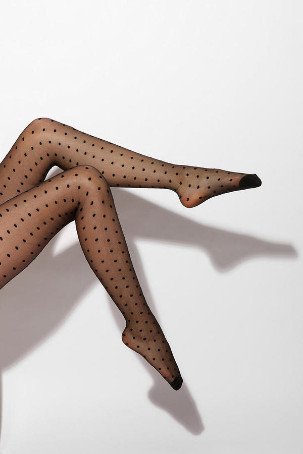UO Sheer Polkadot Tights