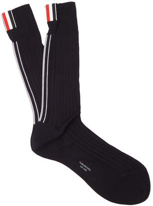 Thom Browne Striped cotton socks