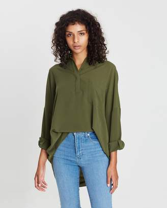French Connection Crepe Light Solid Blouse