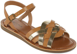 Arizona Womens Moslie Ankle Strap Flat Sandals