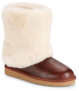 Patten Shearling Leather Midcalf Boots $200 thestylecure.com