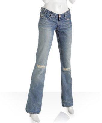 Earnest Sewn light wash distressed 'Hefner' jeans