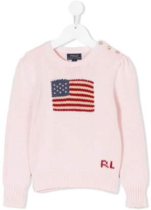 Ralph Lauren flag crewneck sweater
