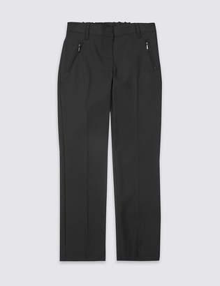 Marks and Spencer Girls' Slim Leg Slim Fit Trousers