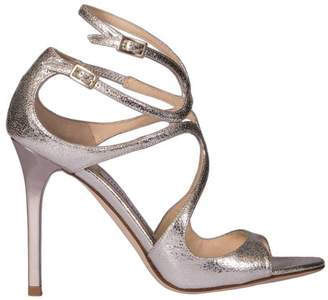 Jimmy Choo Heeled Sandals Sandals Lang In Genuine Laminated Leather With Double Strap