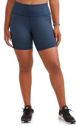Avia Women's Plus Active Circuit Shorts 7 inch inseam