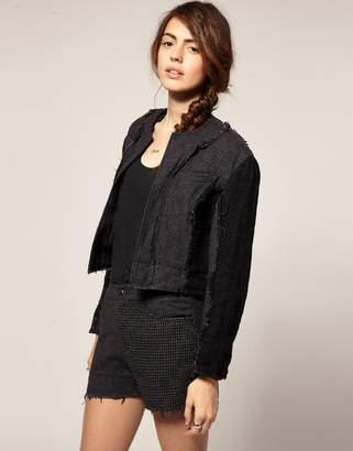 Asos Blaak For Patch Wool Cop jacket
