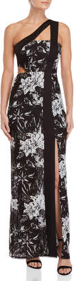 BCBGMAXAZRIA Floral Lace One-Shoulder Dress