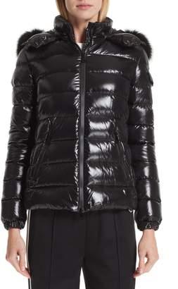 Moncler Badyfur Down Puffer Jacket with Detachable Genuine Fox Fur Trim