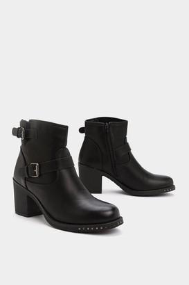 Nasty Gal Heel It in Buckle Boot