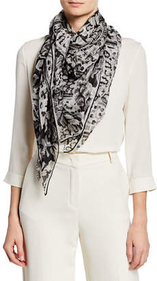 Loro Piana Cashmere Abstract Paisley Scarf