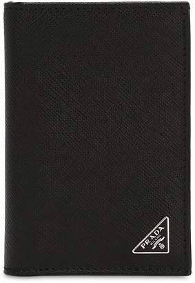 Prada Saffiano Leather Folded Card Holder