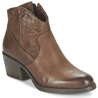 Dream in Green FODELATIO women's Low Ankle Boots in Brown