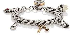Alexander McQueen Men's Multi-Charm Bracelet-Silver