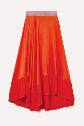 ea68946565 Roksanda Shona Asymmetric Silk-satin Midi Skirt - Orange