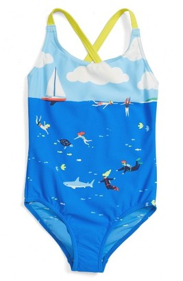 Toddler Girl's Mini Boden Fun One-Piece Swimsuit $24 thestylecure.com