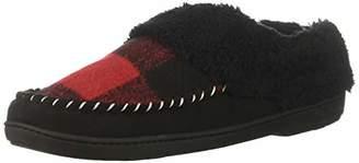 Dearfoams Women's Moc Toe Clog with Plaid Slipper