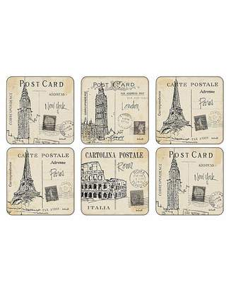 Pimpernel Postcard Sketches Coasters