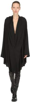 Ann Demeulemeester Hooded Sheer Viscose Dress
