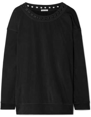 Tomas Maier Eyelet-embellished Jersey Sweatshirt - Black