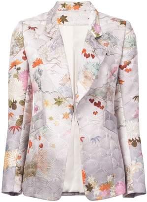 Josie Natori jacquard print jacket