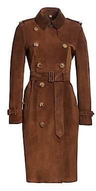 Burberry (バーバリー) - Burberry Burberry Women's Haddington Suede Trench Coat