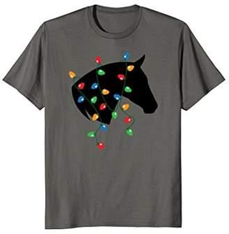 Merry Christmas Holiday Lights Horse T-Shirt
