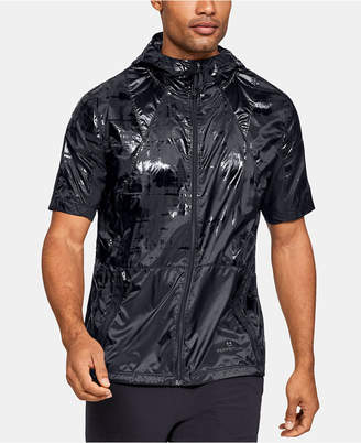 Under Armour Men Printed Hooded Short-Sleeve Windbreaker