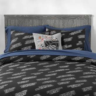 Pottery Barn Teen NHL Shaved Ice Duvet Cover, Twin/Twin XL, Black/White