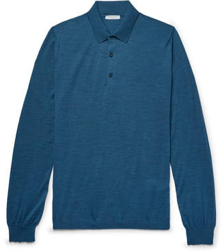 Boglioli Slim-Fit Mélange Virgin Wool Polo Shirt
