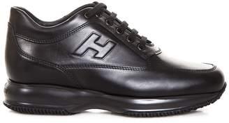 Hogan Interactive Black Leather Sneakers