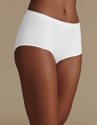 Marks and Spencer 5 Pack Pure Cotton Midi Knickers