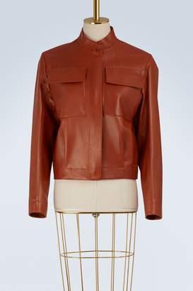 Jil Sander Export leather bomber