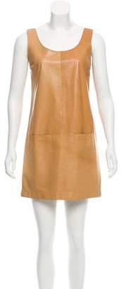 Vince Leather Mini Dress