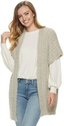 Lauren Conrad Women's Cozy Cable Knit Kimono