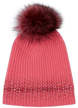 William Sharp Embellished Pom Pom Hat