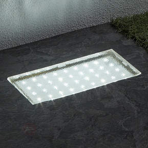 Rechteckige LED-Bodeneinbauleuchte Walkover, 20 cm