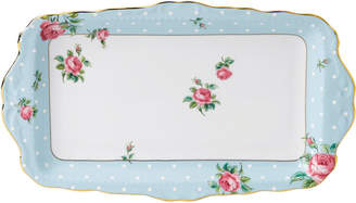 Royal Albert Polka Blue Sandwich Tray