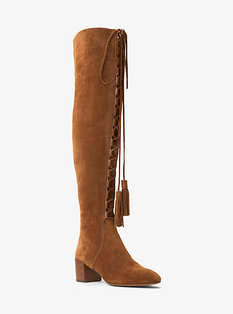 Michael Kors Harris Suede Lace-Up Boot