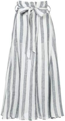 Lee Mathews Simmons stripe godet skirt
