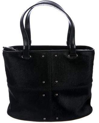 Tod's Studded Ponyhair Tote