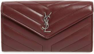 Saint Laurent Loulou Large Matelasse Leather Flap Wallet