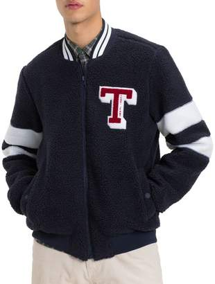Tommy Jeans Teddy Textured Bomber Jacket