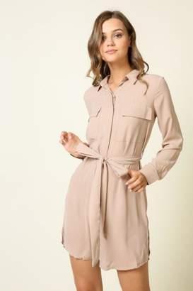 Olivia Pratt Button-Down Self-Tie Dress