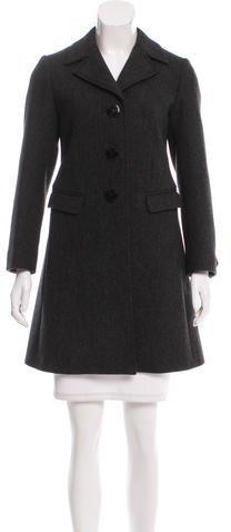 pradaPrada Notch-Lapel Virgin Wool Coat