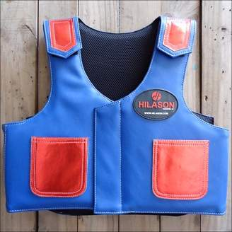 Pv814yf Hilason Kids Junior Youth Horse Riding Pro Rodeo Leather Protective Vest